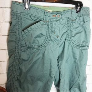 Anthropologie Hei Hei Utility Green Cargo Pants